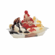 PET Plastic Banana Boat - Dessert