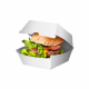 White Paperboard Burger Clams 3