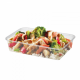 Plastic Wide Base Rectangular Containers - filled with food